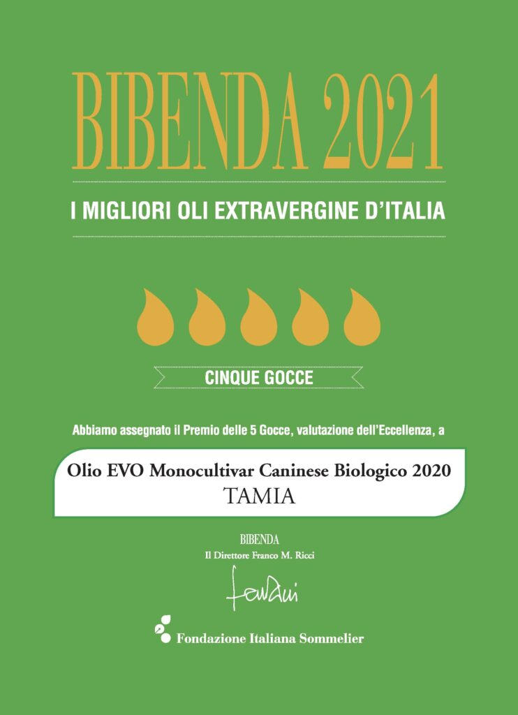 Bibenda 2021 awarding to Tamia